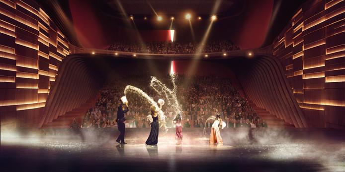 De grote zaal van het nieuwe Theater aan de Parade in Den Bosch.