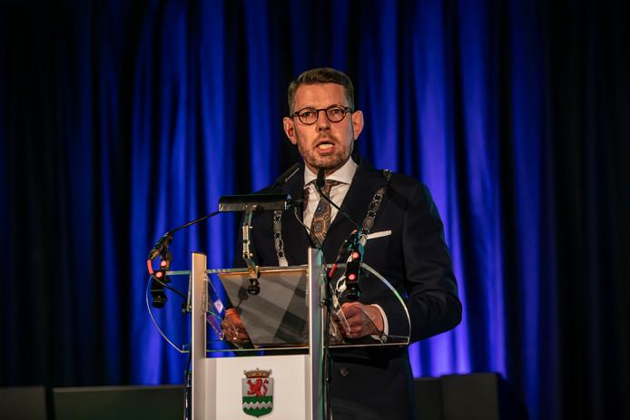 Burgemeester Bouke Arends.