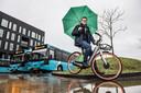 Remco Vink op een Urbee E-bike.