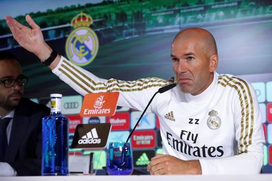 Trainer Zinedine Zidane van Real Madrid.