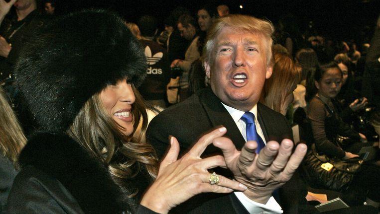 Trump en zijn vrouw Melania. Beeld AP