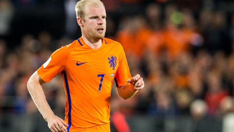Klaassen in Oranje tijdens het WK-kwalificatieduel met Wit-Rusland in oktober vorig jaar. Beeld Pro Shots