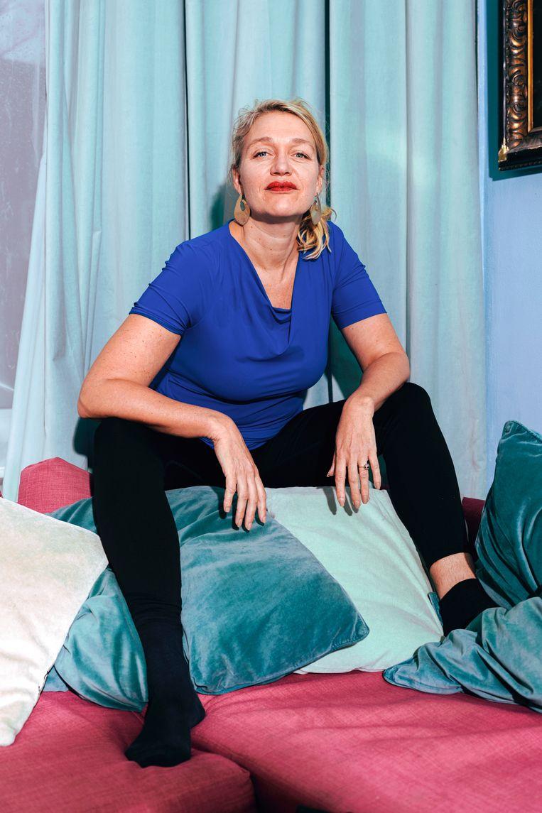 Stella Bergsma: 'Ik ben gevaarlijker dan de meeste feministen en dat geeft mij ook meer invloed.' Beeld Damon De Backer