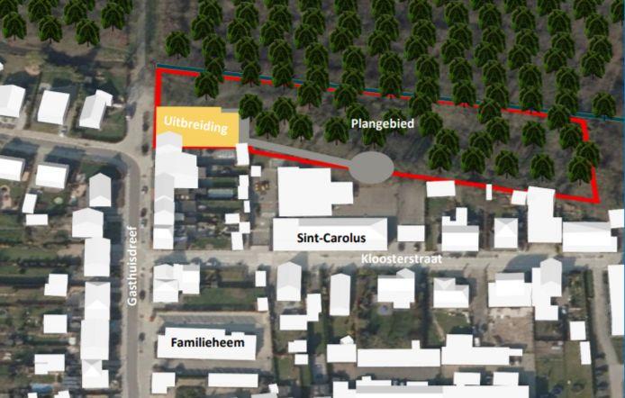 Puurs-Sint-Amands plande de nieuwbouw op het perceel naast het schooldomein.