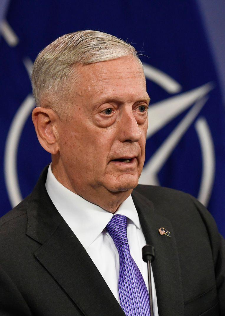 Defensie-minister 'Mad Dog' Mattis. Beeld AFP