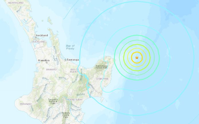 De zeebeving had een magnitude 6,9.