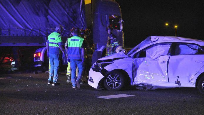 Ongeluk op de A28