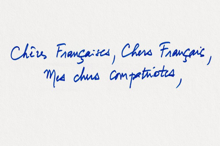 De aanhef van de brief van Macron. Beeld ELYSEE.FR