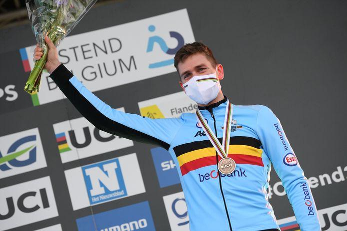 Toon Aerts werd derde op het WK in Oostende.