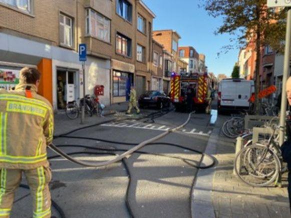 Brand in Van Campenhoutstraat.
