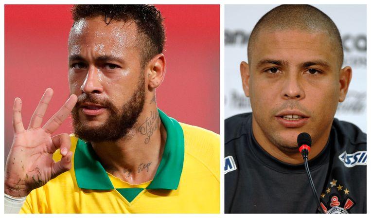 Neymar scoorde meer doelpunten voor Brazilië dan Ronaldo. Beeld AFP/Photonews