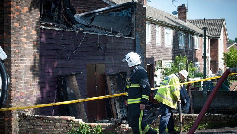 Afgelopen week brandde ook al het islamitisch centrum Al-Rahma in het noorden van Londen af Beeld ANP