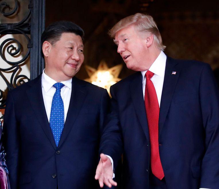De Chinese president Xi Jinping met de Amerikaanse president Donald Trump.