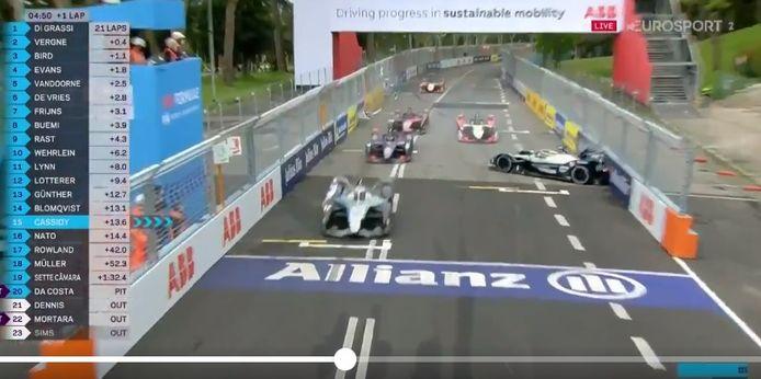 De crash van Vandoorne.