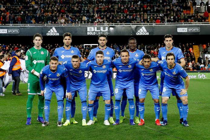 De basiself van Getafe voor de kwartfinale van de Copa del Rey tegen Valencia.