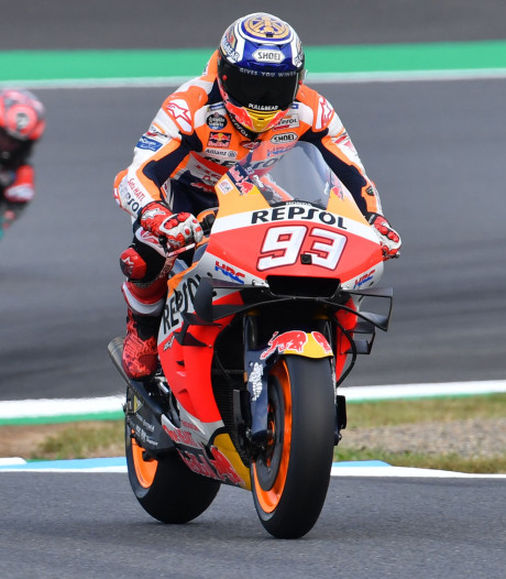 Marc Márquez is ook in Japan de snelste