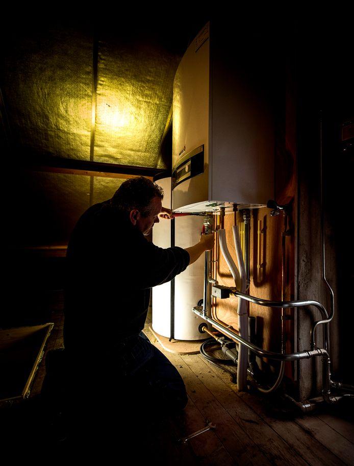 Foto ter illustratie. 'Bij een lagere temperatuur werkt de cv-ketel veel efficiënter en bespaar je tot wel 10 procent op de gasrekening'.