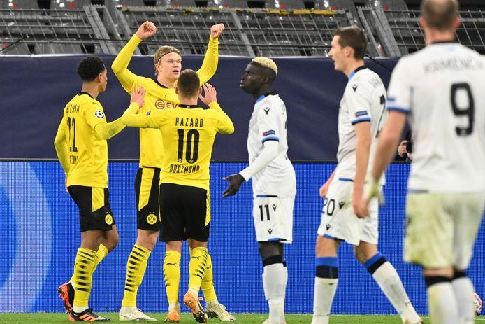 Erling Haaland et le Borussia Dortmund ont infligé au Club de Bruges la même sanction qu'au match aller.