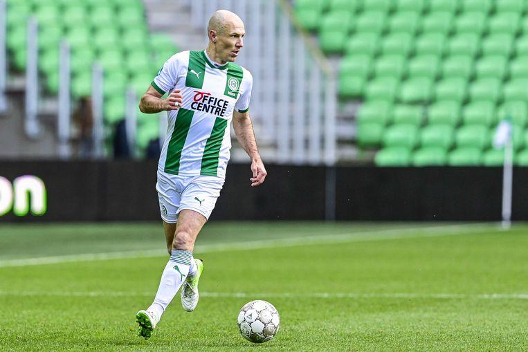 Na maanden blessureleed maakte Arjen Robben zijn rentree bij FC Groningen. Beeld EPA