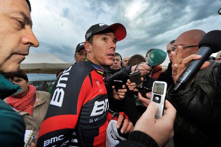 Philippe Gilbert doet zijn relaas over de wedstrijd Beeld PHOTO_NEWS