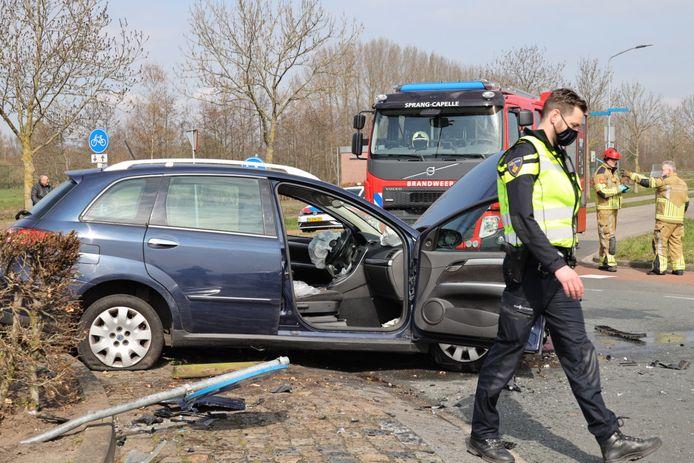 Ongeluk op rotonde in Sprang-Capelle