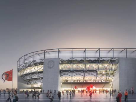 Geen regenscherm, maar vast dak op nieuw Feyenoordstadion