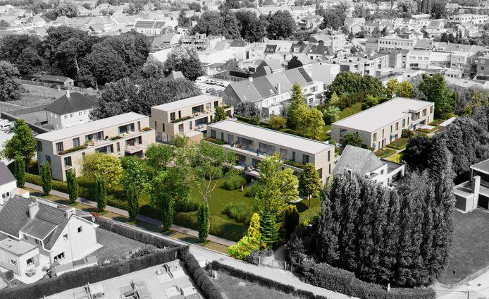 De site Puttemanshof zal over vier kleinschaligere gebouwen bestaan in plaats van de drie grotere appartementsgebouwen die eerst voorzien waren.