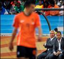 Frank de Boer als assistent-bondscoach tijdens het WK in Zuid-Afrika, in 2010.