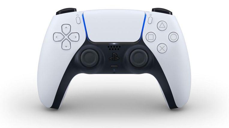 De DualSense-controller van de PS5 - het enige onderdeel dat Sony tot nu toe heeft onthuld. Het is een gestroomlijnde uitvoering van eerdere afstandsbedieningen voor de PlayStation. Beeld Sony