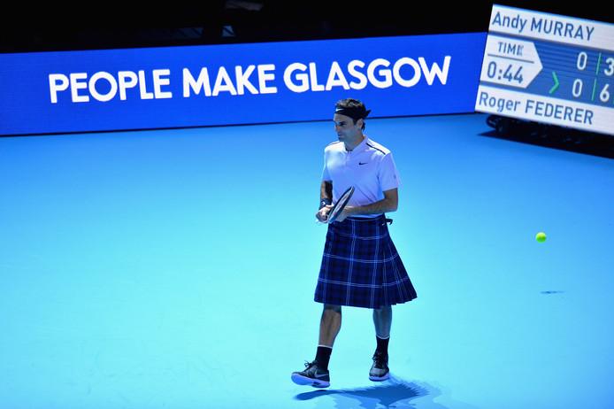 Roger Federer in een kilt.