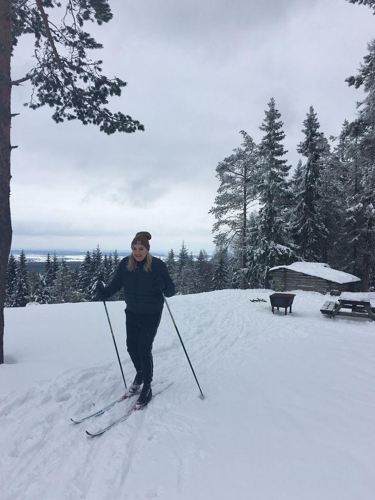 Langlaufen bij het Zweedse Annabodan Beeld rv