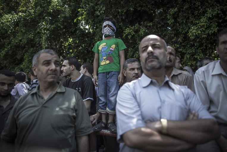 Hamasprotest in Gaza-Stad, augustus 2014. Beeld EPA