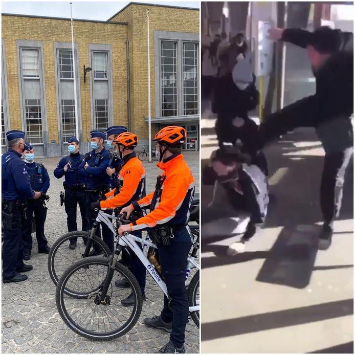 De politie zal meer patrouilleren, onder andere op het Stationsplein. Vorige week donderdag werden nog drie jonge daders opgepakt na een knokpartij aan de bushalte van 't Zand.
