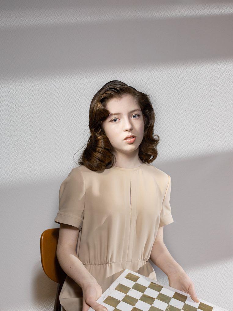 Eline Roebers. Jurk: vintage Valentino (Laura Dols) Beeld Jouk Oosterhof