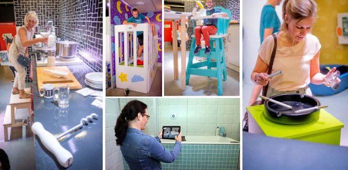 La Maison des géants s'installe dans les Galeries Saint-Lambert pour sensibiliser les familles aux risques d'accidents domestiques.