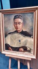 Het geschilderde portret van Titus Brandsma dat in de Osse raadszaal stond