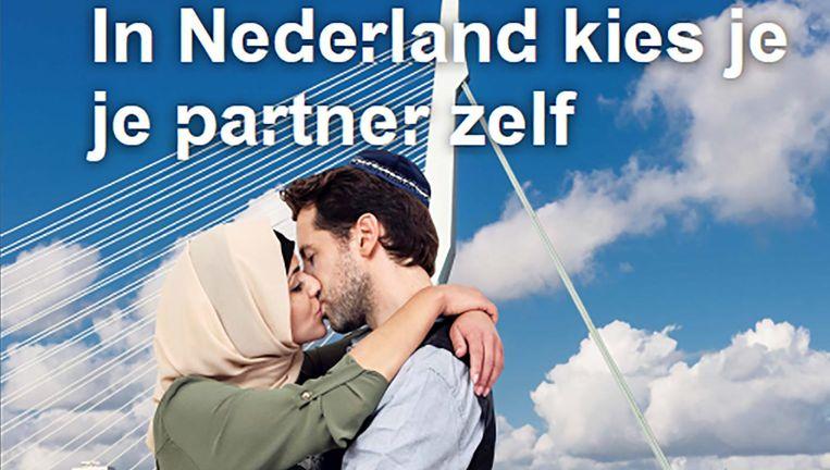Een van de Rotterdamse posters Beeld RV