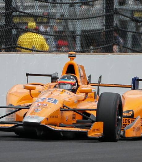 Ook in de Indy500 ploft de Honda-motor van Fernando Alonso