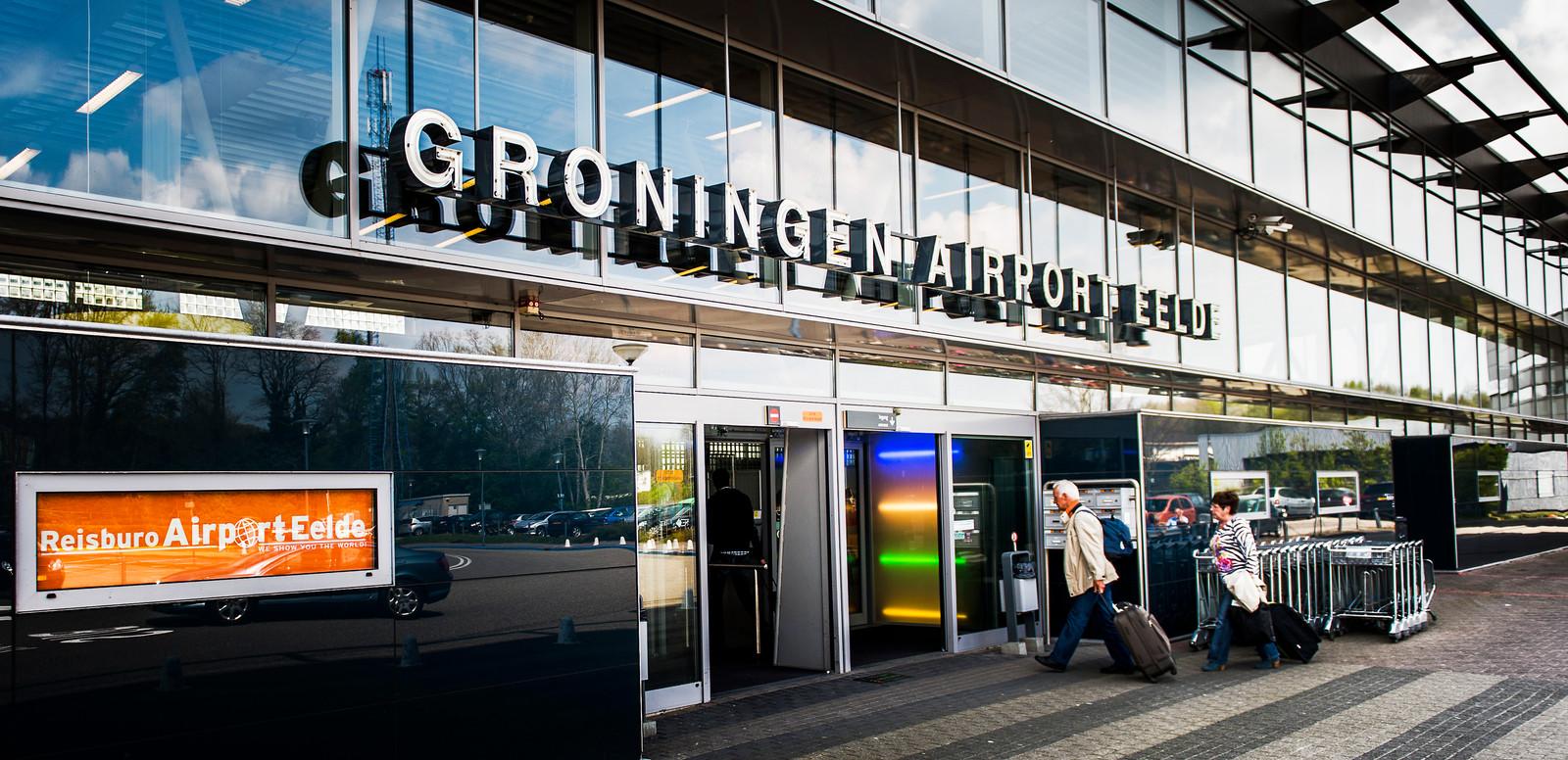 Vliegveld Airport Eelde bij Groningen.