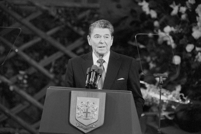 Ronald Reagan. Beeld Photo News