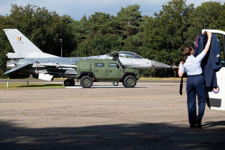 De militaire luchtmachtbasis in Kleine-Brogel, Peer. Beeld BELGA