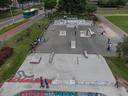 De skatebaan in Park de Wezenlanden.