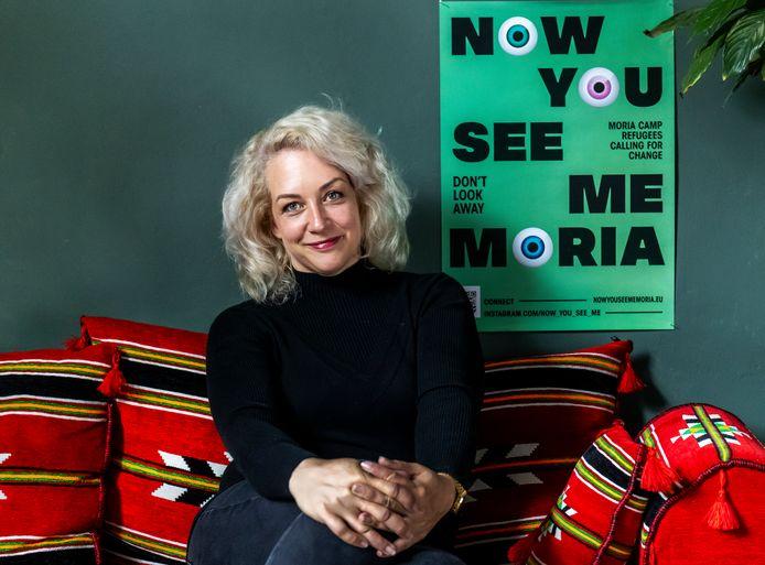 Iris Loos, mede-oprichter van de stichting Dreaming of Syria, die onder meer tot doel heeft Nederland kennis te laten maken met de Arabische cultuur