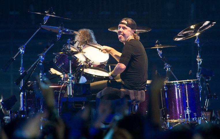 Voor Metallica-drummer Lars Ulrich is de uitdrukking 'ruwe bolster, blanke pit' uitgevonden. Beeld Photo News