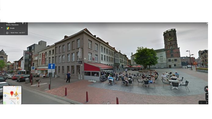 Een beeld van Grote Markt in Menen.