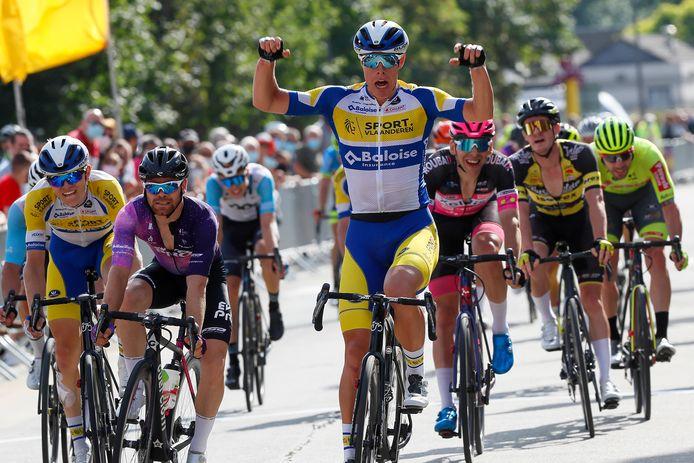 Jens Reynders (Sport Vlaanderen Baloise) was de beste in de GP Beeckman-De Caluwe in Ninove.