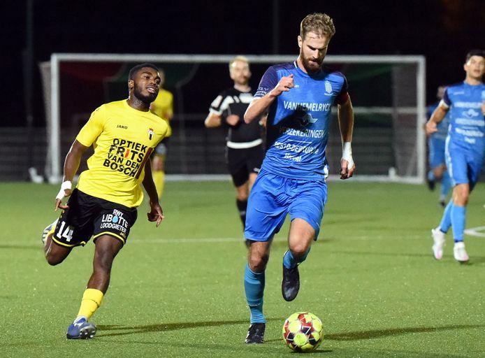 Lennert De Keukeleere, hier in actie tegen Berchem Sport, begint wellicht aan zijn laatste seizoen bij Wijgmaal.