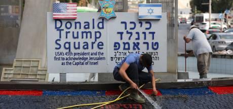 """La """"fontaine de sang"""" du square Trump"""