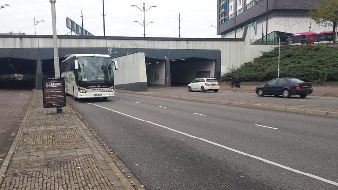 De bus naar Antwerpen.