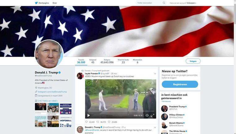 De tweet van Trump Beeld
